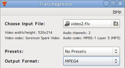 Transmageddon Ubuntu 動画変換 保存形式