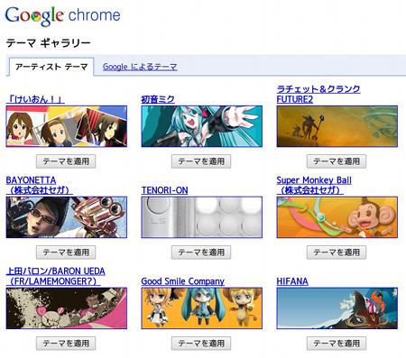 Google Chrome Ubuntu Webブラウザ テーマギャラリー