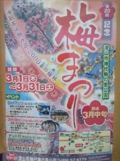 120404 津山 神代梅の里公園 梅祭りポスター