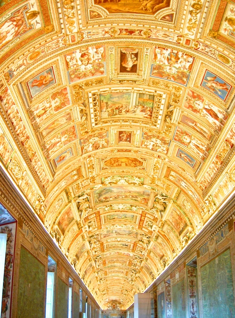 バチカン美術館天井