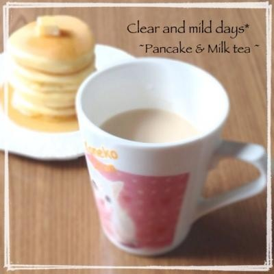 朝食♡ミルクティー