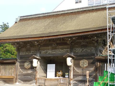 工事中の本殿