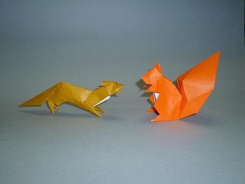 ハート 折り紙:折り紙キツネ折り方-unins.blog77.fc2.com