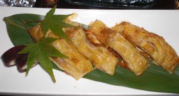 柿チーズとアナゴのパイ焼き