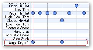 ベースドラム(Bass Drum 1)