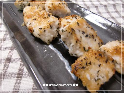 カジキのバジル風味パン粉焼き_1