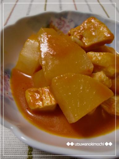 大根と鶏胸肉の野菜ジュースde炒め煮