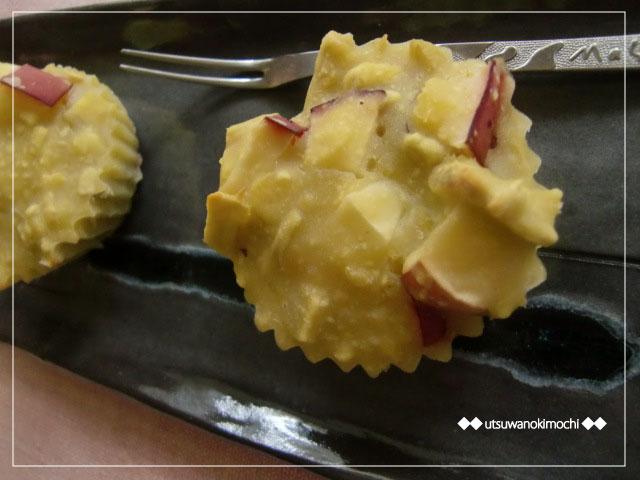 さつまいもとりんごのカップケーキ_1