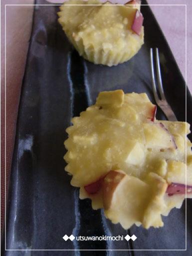 さつまいもとりんごのカップケーキ_2