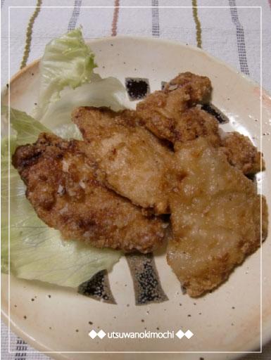 鶏胸肉の竜田揚げ