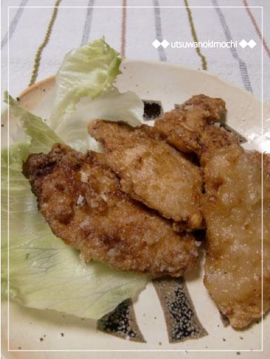 鶏胸肉の竜田揚げ_2