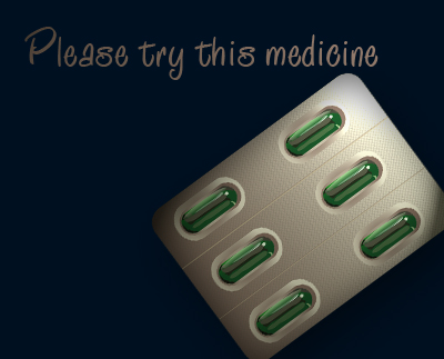 Please try this medicine