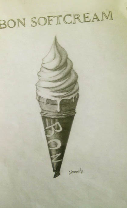 ソフトクリームデッサン