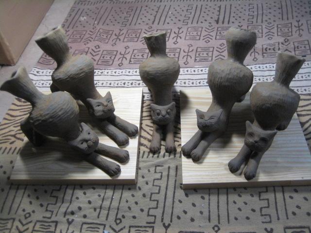 ストレッチ猫花器 021