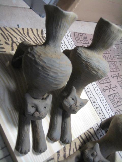 ストレッチ猫花器 010