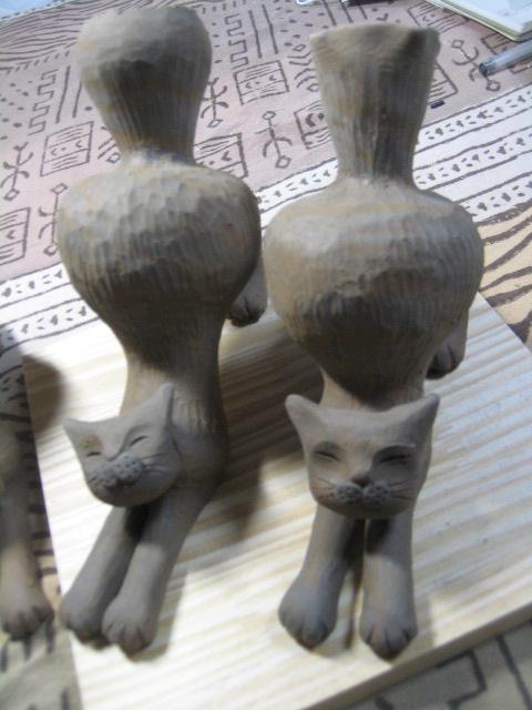 ストレッチ猫花器 014