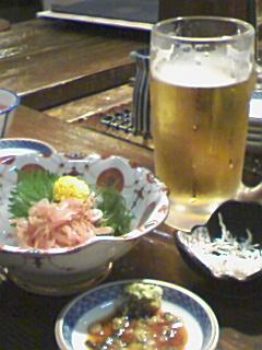 桜海老 と ビール
