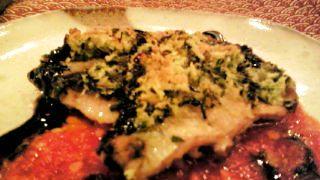 秋刀魚の香草パン粉焼き トマトソース仕立て