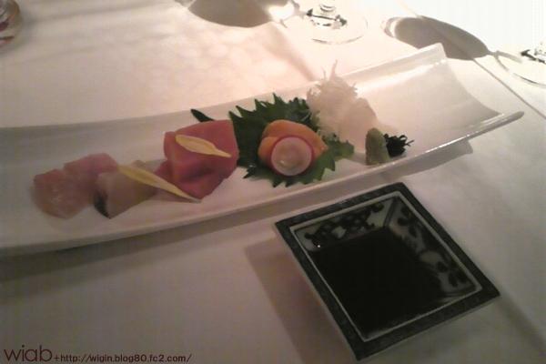 本日築地市場より仕入れた鮮魚介のお造り5種盛り合わせ