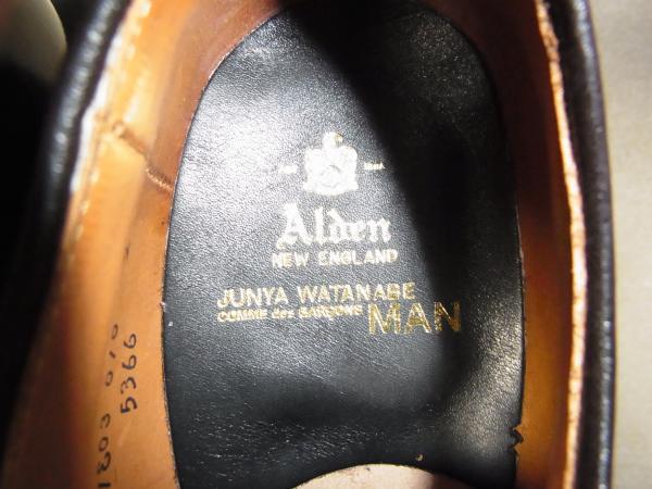 COMME des GARCONS JUNYA WATANABE MAN ×ALDEN プレーン・トゥ・コードバン・5366 4