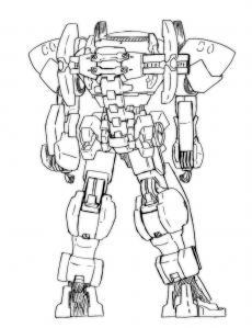 ロボット背面