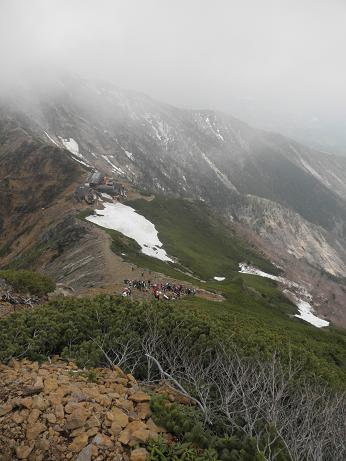 横岳への稜線