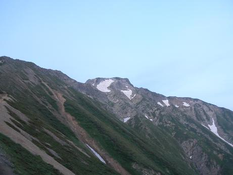 目指す山頂
