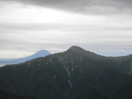 北岳と富士