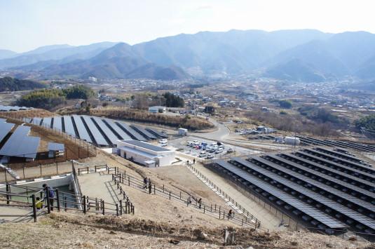 米倉山太陽光発電所 南側の眺め