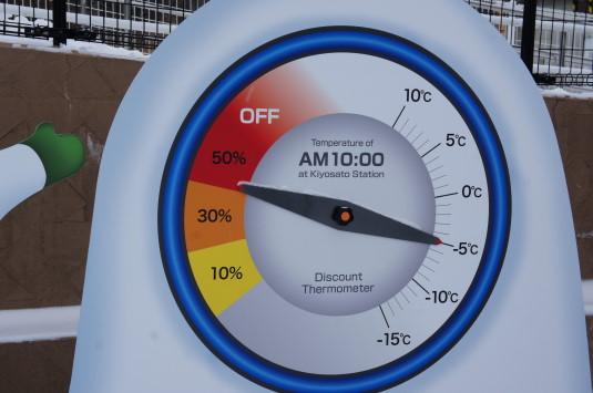 寒いほどお得フェア 温度計