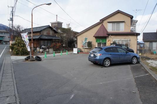 富士川焼きうどん 味菜 駐車場