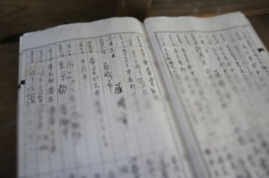 武田八幡宮 記帳