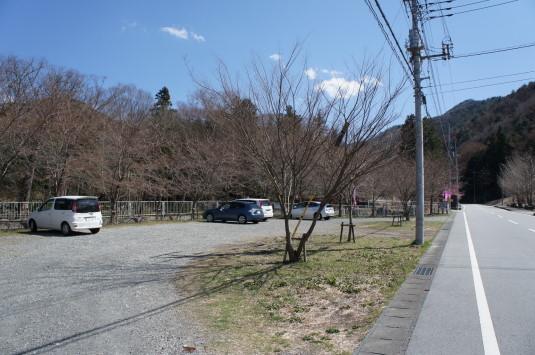 水芭蕉 藤垈の滝 駐車場