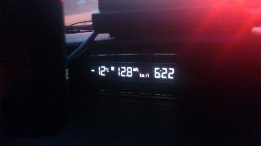 冬の忍野八海 温度