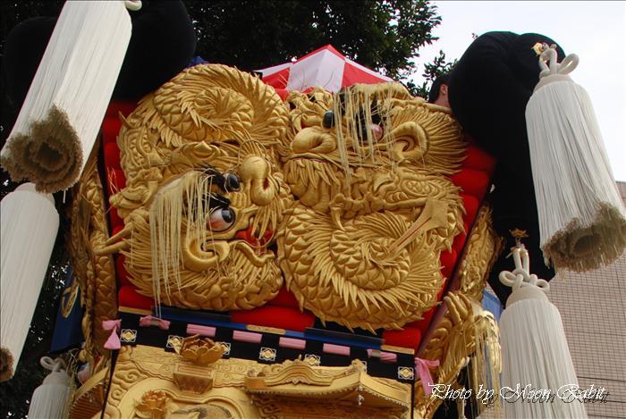 山端太鼓台の飾り幕 川東西部地区かき比べ 2008年10月17日