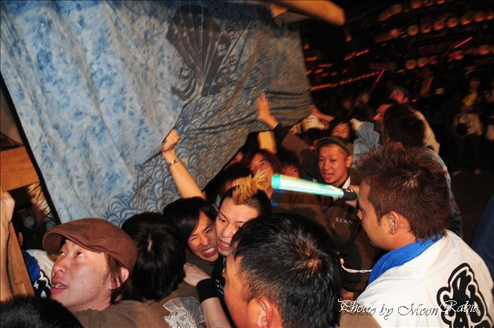 (西条祭り 2009 伊曽乃神社祭礼関係) 宮出し 花園町(はなぞのちょう)だんじり(屋台) 2009年10月15日