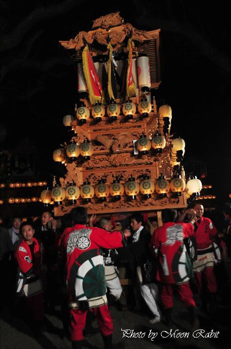 (西条祭り 2009 伊曽乃神社祭礼関係) 宮出し 御所通り(ごしょどおり)だんじり(屋台) 2009年10月15日