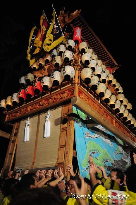 (西条祭り 2009 伊曽乃神社祭礼関係) 宮出し 上喜多川だんじり(屋台) 2009年10月15日