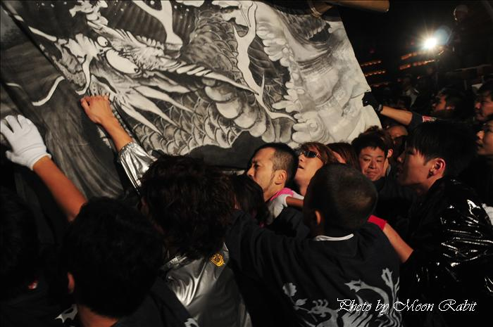 (西条祭り 2009 伊曽乃神社祭礼関係) 宮出し 上神拝(かみかんばい)だんじり(屋台) 2009年10月15日