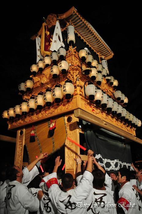 (西条祭り 2009 伊曽乃神社祭礼関係) 宮出し 西新町(にししんまち)だんじり(屋台) 2009年10月15日