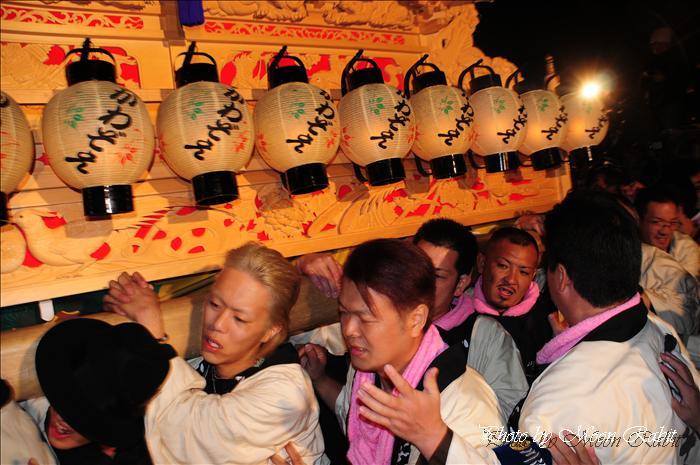 (西条祭り 2009 伊曽乃神社祭礼関係) 宮出し 川沿町(かわぞえちょう)だんじり(屋台) 2009年10月15日