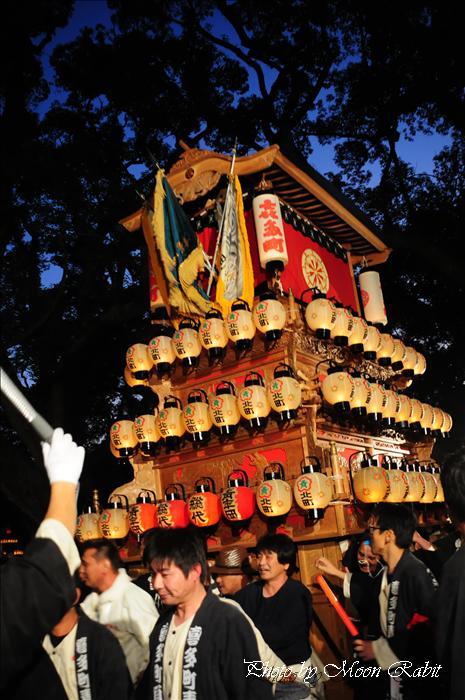 西条祭り 2009 伊曽乃神社祭礼関係) 宮出し 北町だんじり(喜多町屋台) 2009年10月15日