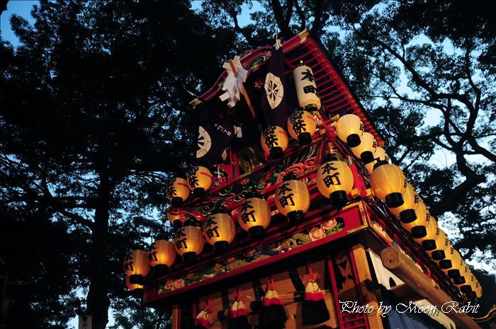 西条祭り 2009 伊曽乃神社祭礼関係) 宮出し 本町だんじり(屋台)と神輿 2009年10月15日