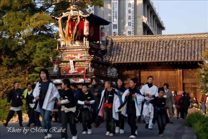 (西条祭り 2009 伊曽乃神社祭礼関係) 御殿前 奥之内(奥の内)だんじり(屋台) 2009年10月16日