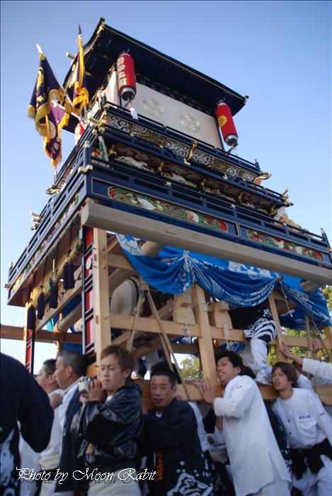 (西条祭り 2009 伊曽乃神社祭礼関係) 御殿前 常心上組(大南)だんじり(屋台) 2009年10月16日