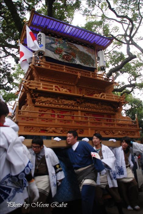 (西条祭り関係) 天皇陛下御即位20周年奉祝 伊曽乃神社1 花園町だんじり(屋台) 天皇誕生日2009年12月23日
