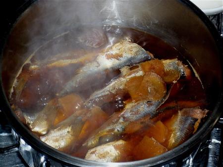 鰮の梅干煮1