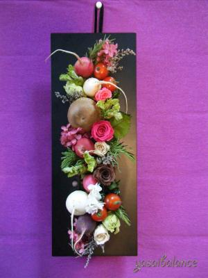 野菜アレンジメント壁掛け