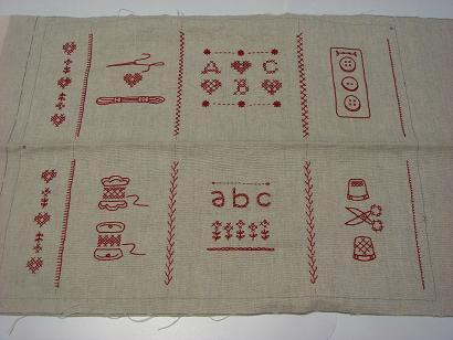 バッグの刺繍