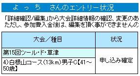 2010ツール・ド・草津 エントリ完了!